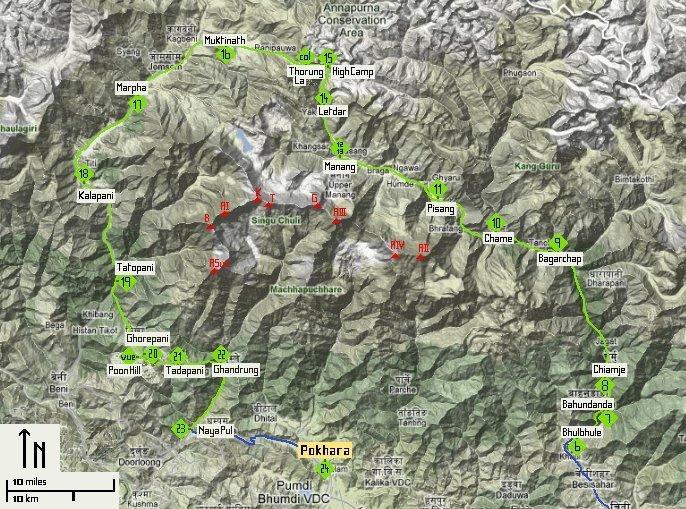 Trek du Tour des Annapurnas Préparation-Programme et cartes