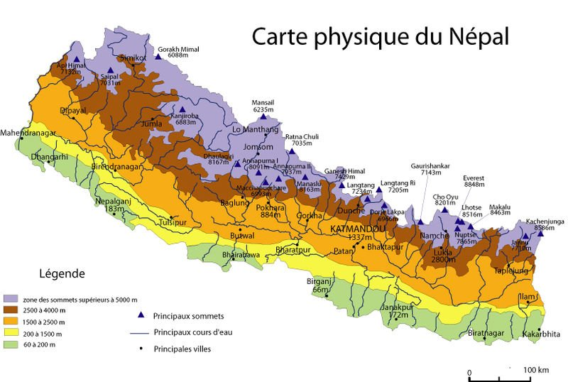 Trek  Annapurnas au Népal 2011 reliefvillenepal